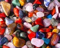 在所有颜色的自然石头 免版税图库摄影