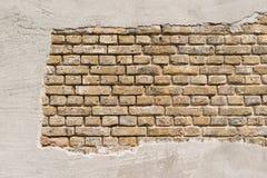 在所谓的常设砖债券的石工与灰泥 库存照片