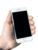 6在手中被隔绝的新的苹果计算机iPhone 库存照片