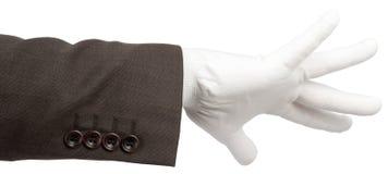 在手套的商人手 库存照片