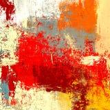 在手工制造的帆布的油画 抽象派纹理 五颜六色的纹理 现代艺术品 肥胖油漆冲程  绘画的技巧 moder 皇族释放例证
