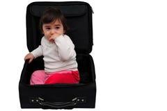 在手提箱里面的子项 库存照片