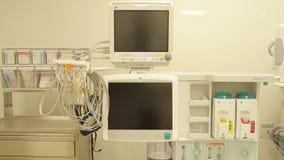 在手术室的麻醉师设备 股票视频