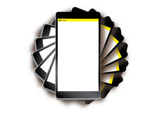 在手机堆上 免版税库存照片