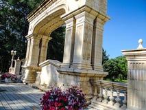 在手段的曲拱在Goryachiy klyuch 免版税图库摄影