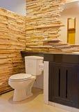在手段的美好的洗手间 免版税图库摄影