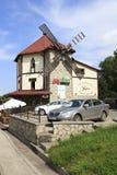 在手段Belokurikha的咖啡馆Mulino 库存图片