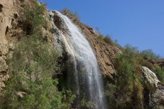在扎尔卡主要的热的瀑布 免版税库存照片