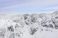 在扎科帕内的Kasprowy Wierch峰顶Tatra山的在冬天 图库摄影