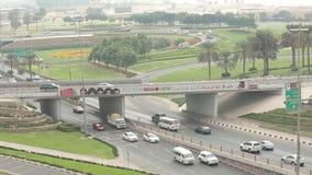 在扎耶德Road,迪拜回教族长的交通 股票录像