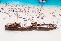 在扎金索斯州的海难 库存照片