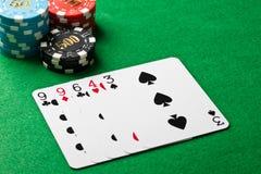 在扑克牌游戏的一个对 免版税库存图片