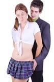 在打比赛的一个性感的角色的夫妇 图库摄影