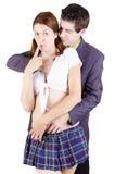 在打比赛的一个性感的角色的夫妇 免版税图库摄影