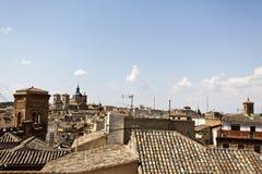 在托莱多屋顶日落的 库存图片