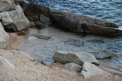 在托萨德马尔的海滩 免版税库存照片
