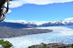 在托里斯del潘恩国家公园,智利的灰色冰川 免版税库存图片
