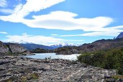 在托里斯del潘恩国家公园,智利的灰色冰川 库存照片