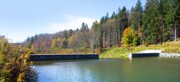 在托马斯西维吉尼亚附近的小水坝 免版税库存图片