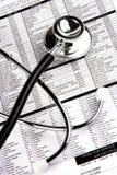 在报表听诊器 免版税库存图片