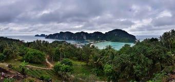 在披披岛的观点在泰国 库存图片