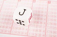 在抽奖券的模子 免版税库存图片