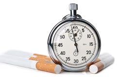 在抽烟的时间的杀害 免版税库存图片