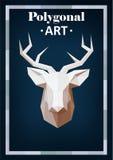 在抽象样式的多角形动物 免版税库存图片