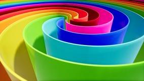 在抽象样式的颜色波浪在五颜六色的背景 曲线抽象背景 背景五颜六色现代 向量例证