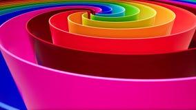 在抽象样式的颜色波浪在五颜六色的背景 曲线抽象背景 背景五颜六色现代 库存例证