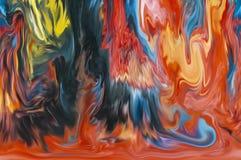 在抽象的打旋的油漆 免版税库存照片