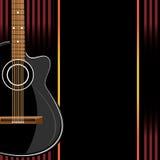 在抽象背景的声学吉他 免版税库存照片
