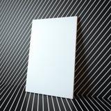 在抽象背景的空白的白色框架 免版税库存图片