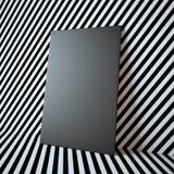 在抽象背景的空白的黑框架 库存照片