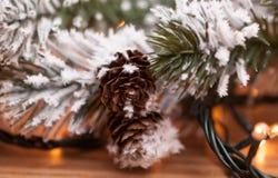 在抽象金黄背景的圣诞树 库存图片