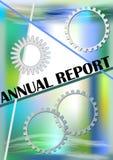 在抽象绿色和蓝色难看的东西背景的年终报告盖子 免版税库存图片