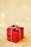 在抽象bokeh背景的圣诞节装饰 快活的Christm 免版税库存图片