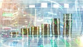 在抽象infographic背景的利润增长 向量例证