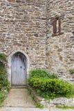 在拉伊看见的老城堡门,肯特,英国 免版税库存照片