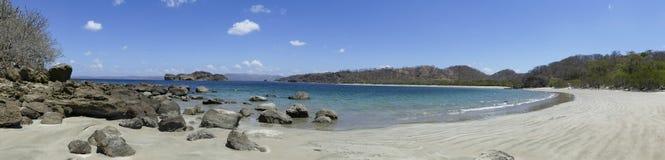 在拉克鲁斯附近的风景Playa Rajada 免版税图库摄影