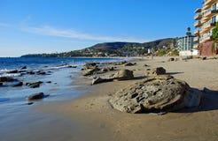 在拉古纳海滩,加州的困空心海滩 库存照片