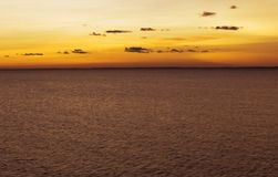 在拉多加湖的不眠夜 库存图片
