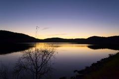 在拉多加湖的日落 免版税库存图片
