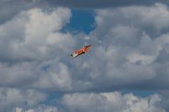在拉多姆飞行表演期间的绅宝105 OE显示2013年 免版税库存照片
