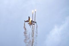 在拉多姆Airshow,波兰的比利时人F-16 免版税图库摄影