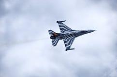 在拉多姆Airshow,波兰的比利时人F-16 库存照片