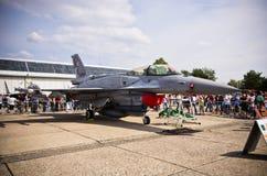 在拉多姆Airshow,波兰的波兰F-16喷气式歼击机 库存照片