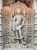 在拉妮ki vav印度世界遗产名录站点的雕塑  免版税图库摄影