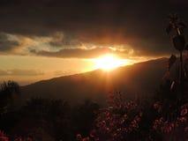 在拉帕尔玛岛,加那利群岛,西班牙的日落 库存照片