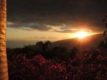 在拉帕尔玛岛,加那利群岛,西班牙的日落 库存图片